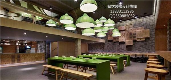 石家庄牛肉拉面馆连锁快餐店装饰设计效果图